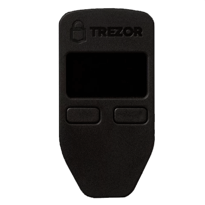 TREZOR ONE Black + Cryptosteel 4